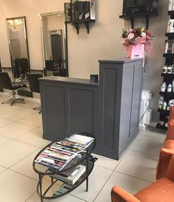 New reception desk for #Olsen&Olsen hair