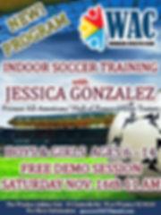 Jessica Gonzalez Soccer Winter Demo Prom