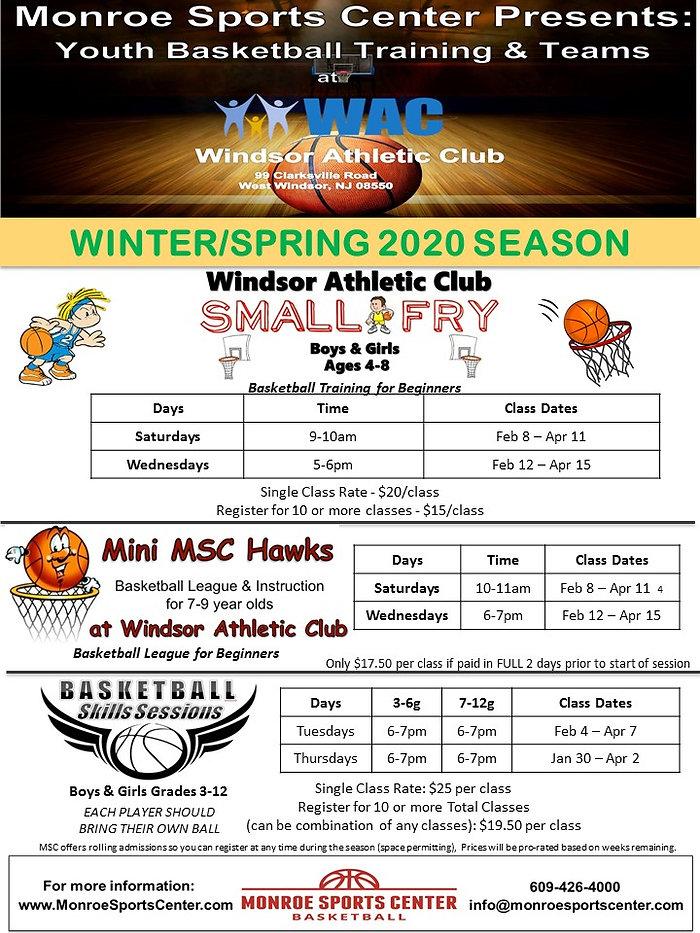 Monroe Sports Basketball Winter-Spring 2
