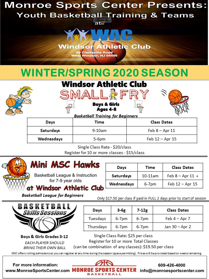 Monroe Sports Basketball Winter-Spring 2