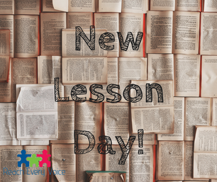 New Lesson Day!