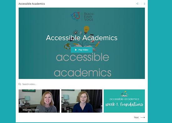 Accessible Academics Videos