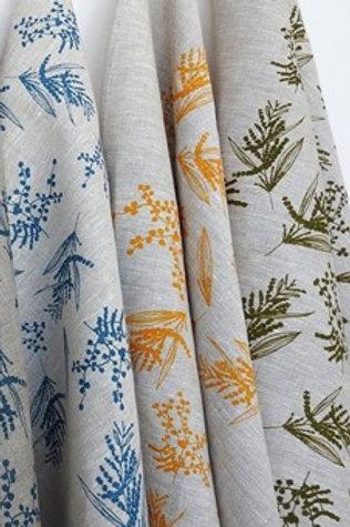 Pack of 3 Linen Tea Towels- Mixed Wattle Print, 3 colours