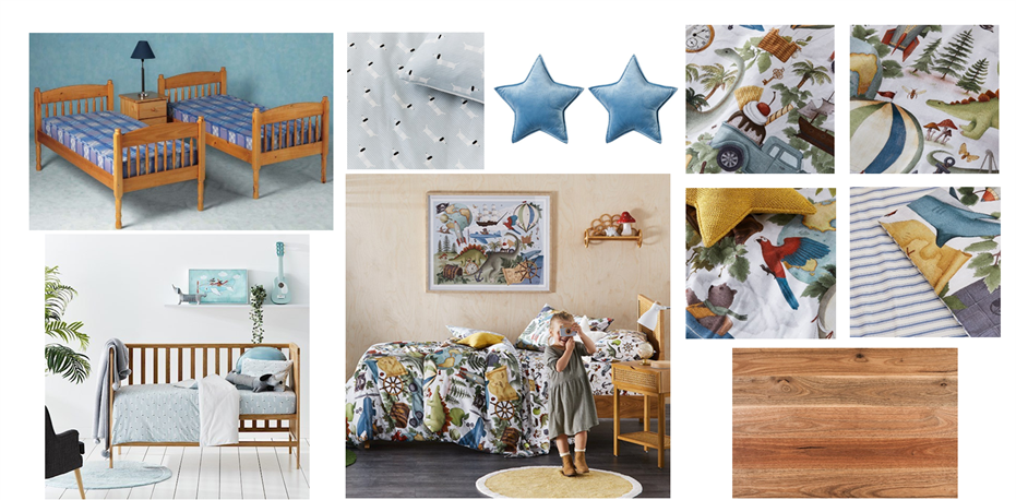 Grandchildren's Bedroom Moodboard Adelaide
