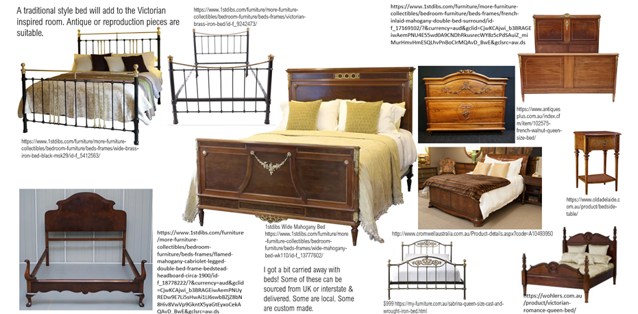 Traditional Bedroom Furniture Moodboard St Peters