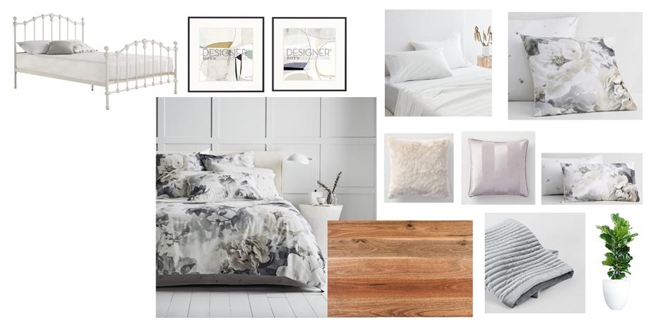 Contemporary Farmhouse Bedroom Moodboard