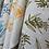 Thumbnail: Linen Tea Towel- Mixed Wattle Print- Colour Sea Blue