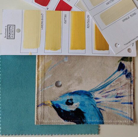 Transitional Design Fabric & Paint Swatches