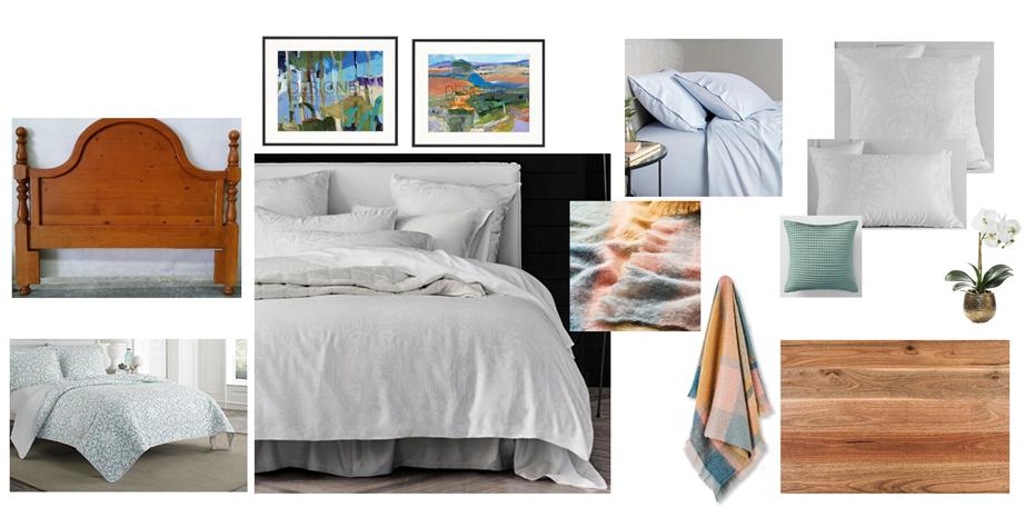 Contemporary Country Bedroom Moodboard Blackwood