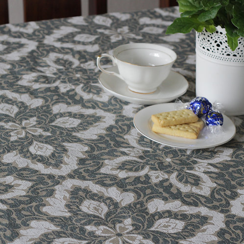 French Linen Tablecloth Domaine- Rectangle 10 Seater