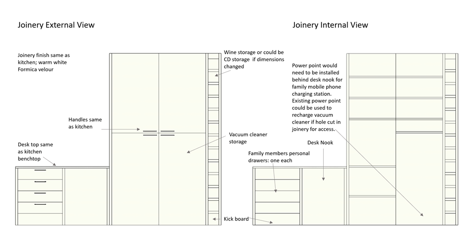 2D Drawing Storage Cupboards Joinery Hawthorndene