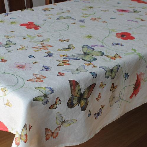 Italian Linen Tablecloth- Papillion- Rectangle 8 Seater