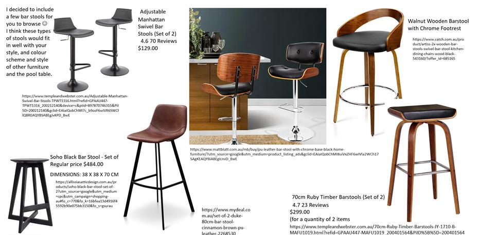 Contemporary Bar Furniture Moodboard Hawthorndene