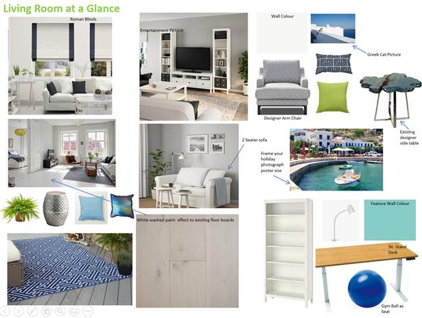 Greek Islands Inspired Living Room Moodboard Toorak Gardens