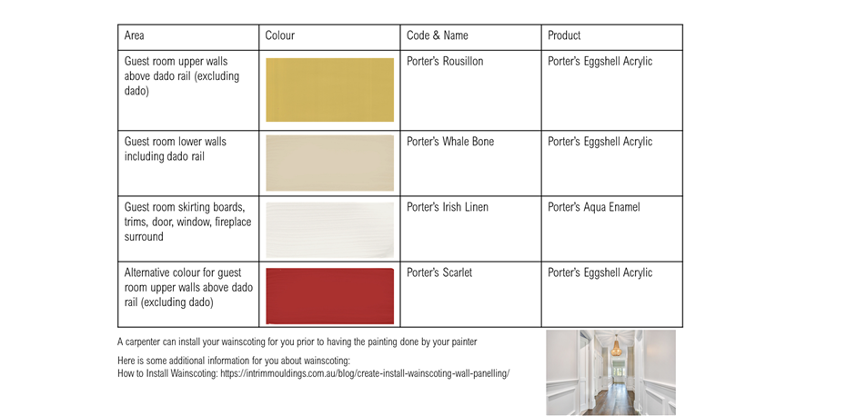 Traditional Paint Schedule St Peters
