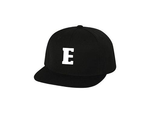 """E"" Snapback (Black)"