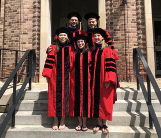 Congratulations to newly minted PhD's: Joey, Dana, Ngoc, Josh and Michelle