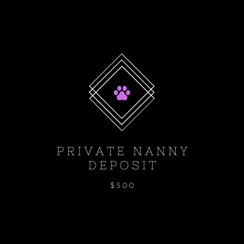 Private Puppy Nanny Deposit