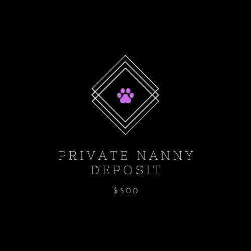 Private Puppy Nanny Deposit