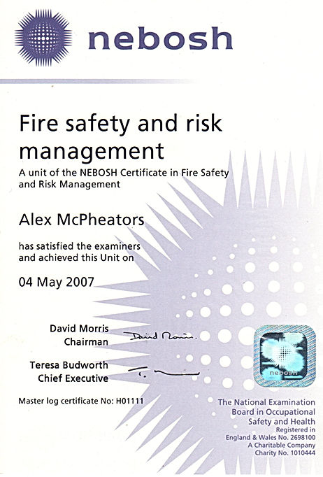 Fire Safety Manager Scotland