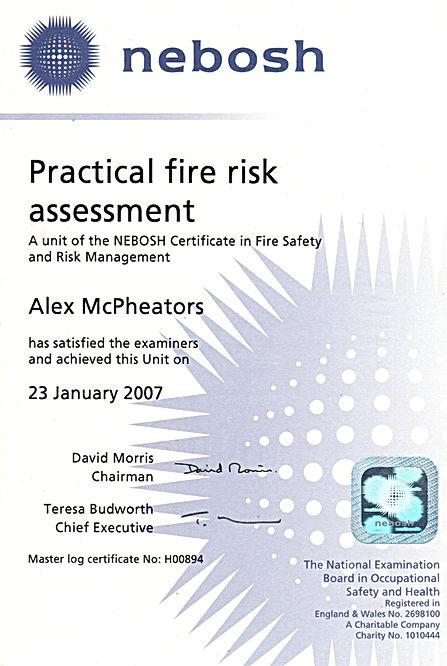 Fire Risk Assessor Scotland