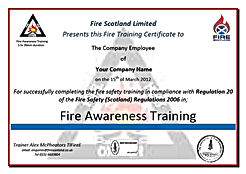 Staff Fire Safety Training Course Near Edinburgh, Fire Safety training in Glasgow, Fire Safety Training Scotland, Fire safety training fife.