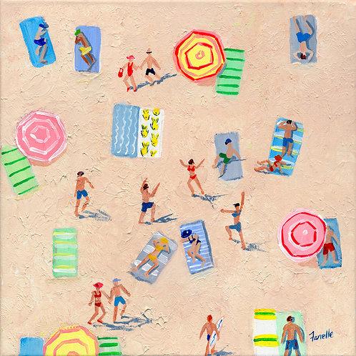 Beach Play 2 - Canvas Print