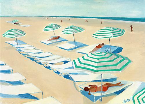 Mint Beach 1 - Canvas Print