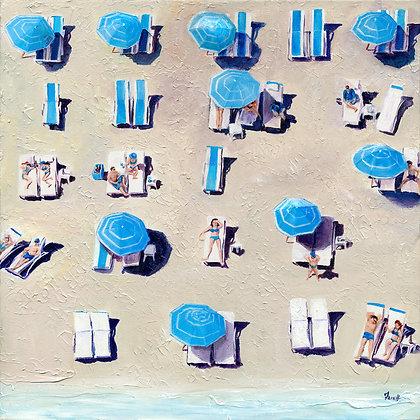 Blue Popsicles - Canvas Print