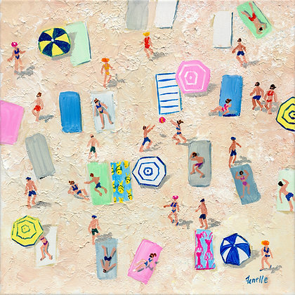 Beach Play 1 - Canvas Print