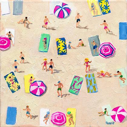 Beach Play 3 - Canvas Print
