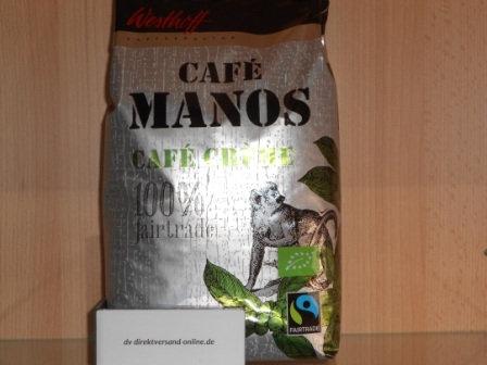 Westhoff Café Manos Café Créme ganze Bohne