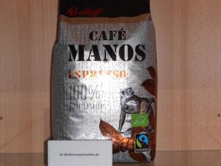 Westhoff Café Manos Espresso ganze Bohne