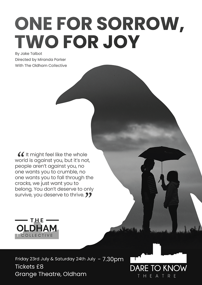 One for Sorrow, Two for Joy A3 POSTER.pn