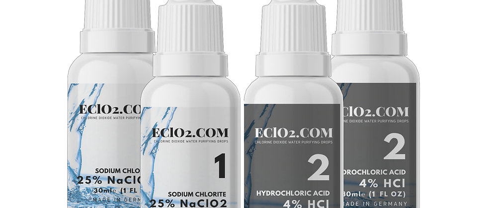 Travel Size Pack: Chlorine Dioxide 4% HCL Drops - Multi-pack