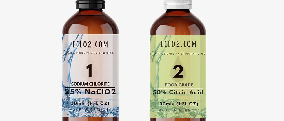 Dropper: Chlorine Dioxide Drops + Citric Acid 30ml - 100ml