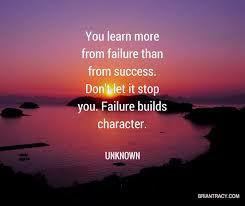 Failure is just a blip