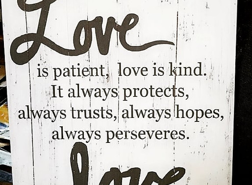 ...Love never Fails