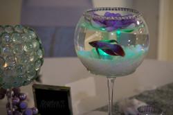 live fish wedding centerpieces