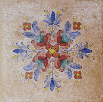 Accent Folk Art Tile