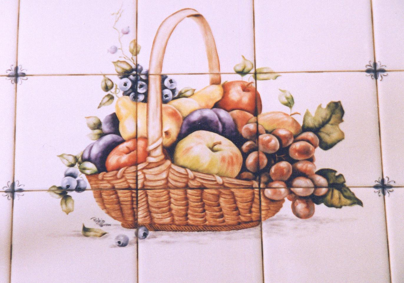 Fruit Basket Tile Mural