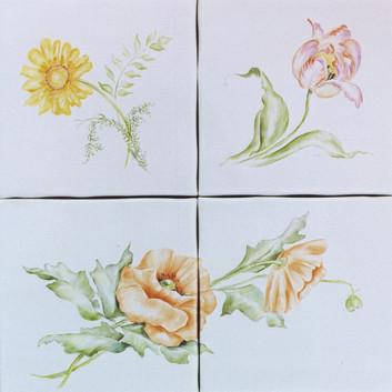 Accent Flower Tiles