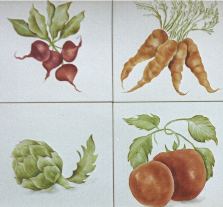 Accent Tiles of Vegetables