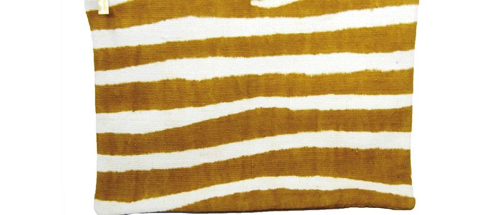 Pochette Georgette zèbre jaune