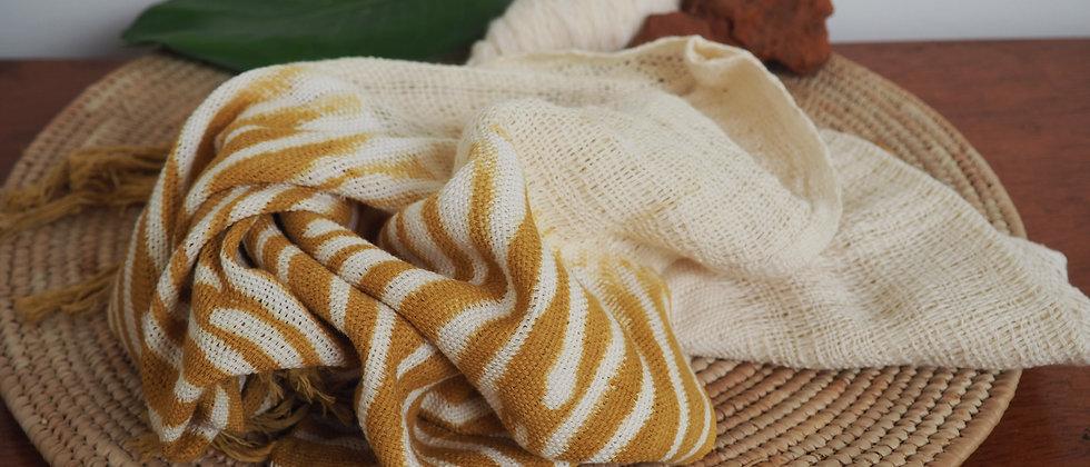 Etole zèbre jaune et blanc