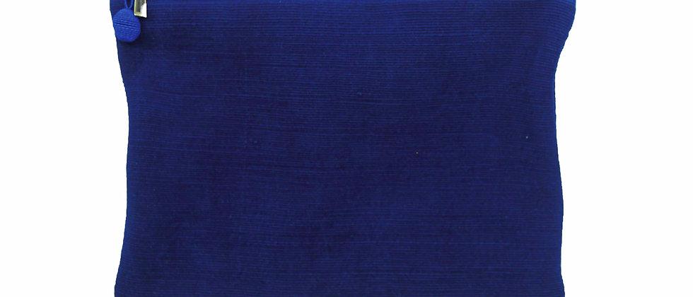 Pochette Georgette bleue indigo