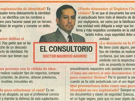 El consultorio doctor Mauricio Aguirre.