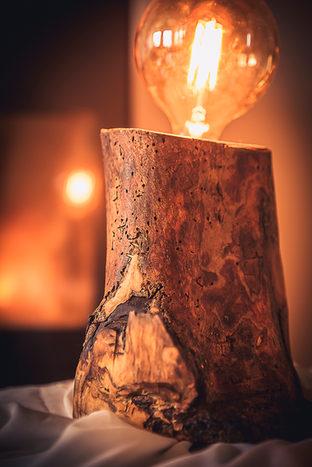 Naturabois.be | Lampe bois brut