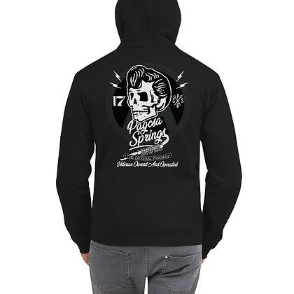 PSBS Veteran Owned Skull Zip Hoodie Front/Back