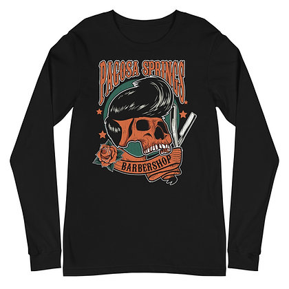 PSBS Long Sleeve Tee Skull and Blade Front Only